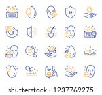 skin care cosmetic line icons.... | Shutterstock .eps vector #1237769275