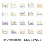 financial chart line icons. set ... | Shutterstock .eps vector #1237769278