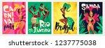 brazilian samba posters.... | Shutterstock .eps vector #1237775038