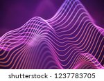 3d sound waves. big data...   Shutterstock .eps vector #1237783705