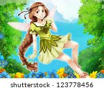 The fairy - Beautiful Manga Girl - illustration - stock photo