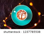 coffee cappuccino with a... | Shutterstock . vector #1237785538