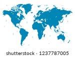 world map vector | Shutterstock .eps vector #1237787005