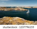 sea landscape with yachts and...   Shutterstock . vector #1237796155