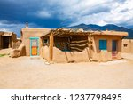 historic taos pueblo  indian... | Shutterstock . vector #1237798495