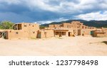 historic taos pueblo  indian... | Shutterstock . vector #1237798498