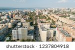 city aerial view. modern middle ... | Shutterstock . vector #1237804918