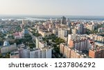 city aerial view. modern middle ... | Shutterstock . vector #1237806292