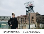 black coal miner in gala parade ... | Shutterstock . vector #1237810522