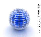 abstract 3d sphere with blue... | Shutterstock . vector #123781195