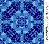 vector damask seamless pattern... | Shutterstock .eps vector #1237814728