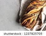 swirl brioche with poppy seeds. ... | Shutterstock . vector #1237825705
