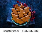 delicious homemade gingerbread...   Shutterstock . vector #1237837882