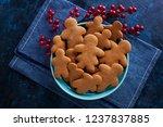 delicious homemade gingerbread...   Shutterstock . vector #1237837885