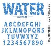 water drops alphabet  modern... | Shutterstock .eps vector #1237851892