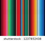 mexican rug pattern. serape... | Shutterstock .eps vector #1237852438