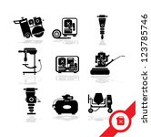 working tools icon set 3   Shutterstock .eps vector #123785746