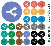 split arrows up multi colored... | Shutterstock .eps vector #1237873255