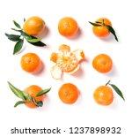ripe orange mandarine ... | Shutterstock . vector #1237898932