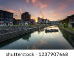 otaru canal was a central part...   Shutterstock . vector #1237907668