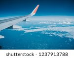 beautiful view from airplane... | Shutterstock . vector #1237913788