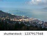 historic astoria  oregon  usa.... | Shutterstock . vector #1237917568
