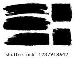 vector set of hand drawn brush... | Shutterstock .eps vector #1237918642