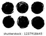 vector set of hand painted...   Shutterstock .eps vector #1237918645