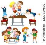 set of children activity...   Shutterstock .eps vector #1237929502