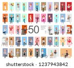 fifty business people working... | Shutterstock .eps vector #1237943842