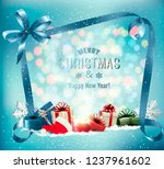 merry christmas background with ... | Shutterstock .eps vector #1237961602