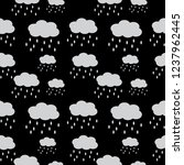 seamless pattern of cloud and... | Shutterstock .eps vector #1237962445
