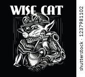 wise cat black and white...   Shutterstock .eps vector #1237981102