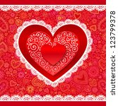 Vector Lacy Valentines Day...