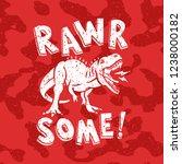 tyrannosaurus rex vector... | Shutterstock .eps vector #1238000182