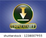 shiny badge with download icon ... | Shutterstock .eps vector #1238007955