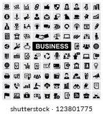 vector black business web icons ...   Shutterstock .eps vector #123801775