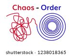 order and chaos . chaotic line... | Shutterstock .eps vector #1238018365