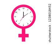 menstruation cycle symbol . ... | Shutterstock .eps vector #1238018452