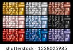 set of gold silver copper rose... | Shutterstock .eps vector #1238025985