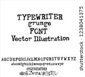 vector old typewriter font... | Shutterstock .eps vector #1238041375