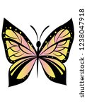 beautiful butterfly vector | Shutterstock .eps vector #1238047918