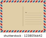 letters and postmarks  airmail... | Shutterstock .eps vector #1238056642