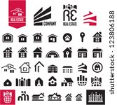 house icons. real estate.... | Shutterstock .eps vector #123806188