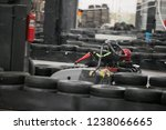 the man is going on the go kart ... | Shutterstock . vector #1238066665