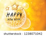 background glitter happy new... | Shutterstock . vector #1238071042