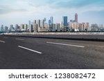 road ground and urban skyline...   Shutterstock . vector #1238082472