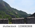 Small photo of Walking along the Great Wall of China just outside of Beijing in a rural province.