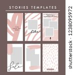 vector stories templates set.... | Shutterstock .eps vector #1238095972
