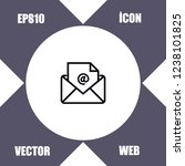 mail icon vector   Shutterstock .eps vector #1238101825